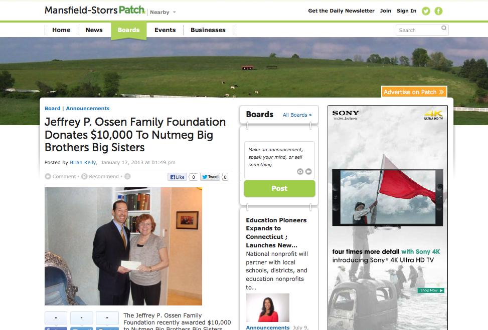 Jeffrey P. Ossen Foundation